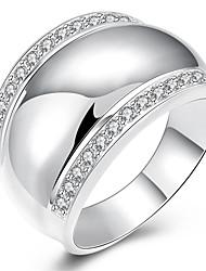 Alliances Mariage / Soirée / Quotidien / Décontracté Bijoux Cuivre / Plaqué argent Femme Bague 1pc,8 / 9 / 10 Argent