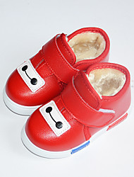 Girl's Loafers & Slip-Ons Fall Winter Comfort Leatherette Casual Flat Heel Magic Tape Pink Red Others