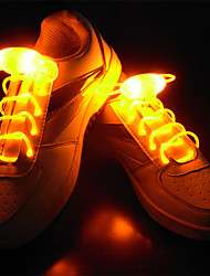 LED Light Up les shoeslaces tpu für Schnürsenkel wasserdicht blau / gelb / grün / pink / rot / weiß / dunkelgrün / hellgrün / Leopard / navy / orange
