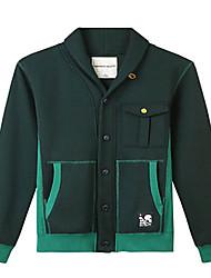 Trenduality® Men's Shirt Collar Long Sleeve Sweater & Cardigan Green - 47040