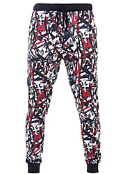 Men's Print Red Loose / Harem PantsSimple Spring / Fall hot sale/brand fashion