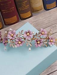 Femme Alliage / Imitation de perle / Tissu Casque-Mariage / Occasion spéciale / Décontracté Serre-tête / Couronnes 1 Pièce