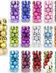 24pcs / pacote natal enfeites de 6 centímetros bolas redondas Baubles