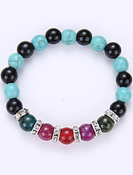 Natural Crystal Bracelet Aquatic Plants Sands Turquoise Bead Bracelet