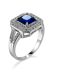 Engagement Wedding Rings CZ Diamond  Plated Fashion Brand Rhinestone Ring Jewelry For Women