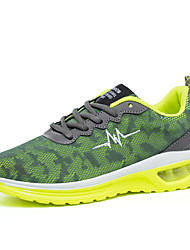 New Men's Lace-up Hit color Breathability Running Shoes Comfort Flat Heel Shoes
