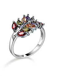 Ring AAA Cubic Zirconia Zircon Cubic Zirconia Fashion Assorted Color Jewelry Halloween Daily Casual 1pc