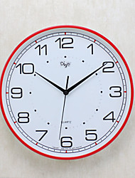 Modern/Contemporary Family Wall Clock,Round Plastic 14 Indoor Clock