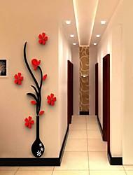 Botanique Stickers muraux Stickers muraux 3D Stickers muraux décoratifs,Vinyle Matériel Amovible Décoration d'intérieur Wall Decal
