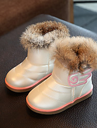 Girl's Boots Winter Others Leatherette Outdoor / Casual Flat Heel Applique Pink / White / Coral Others