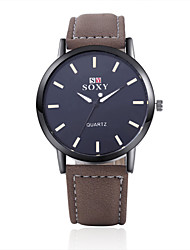 SOXY® High Quality Precise Business Gold Plate PU Leather Strape Watch with Exquisite Quartz Watch for Men Wrist Watch Cool Watch Unique Watch