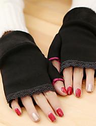 simples comprimento de pulso rendas malhas metade do dedo bonito / partido das mulheres / luvas casuais inverno