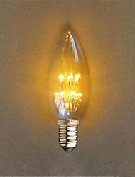 1W E14 Lichtdekoration C35 20 Dip - Leuchtdiode 40 lm Gelb Dekorativ AC 220-240 V 1 Stück