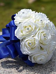 Свадебные цветы Круглый Розы Букеты Свадьба Партия / Вечерняя Полиэфир Атлас Тафта Кружево Спандекс Стразы Около 20 см