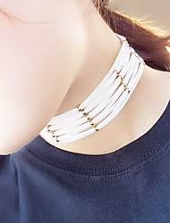 Women's Choker Necklaces Tattoo Choker Jewelry Velvet Round Tattoo Style Fashion White Black Gray Brown Red JewelryParty Halloween