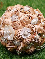 """Fleurs de mariage Rond Roses Bouquets La Fête / soirée Satin 7.48""""(Env.19cm)"""