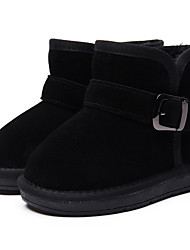 Girl's Boots Winter Others Cowhide Outdoor / Casual Flat Heel Buckle Black / Blue / Green / Coffee / Peach Others