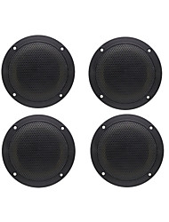High Performance 4 Inch 2 Way Black Waterproof Outdoor Marine Speakers for Marine Boat Outdoor ATV UV-Proof One Pair 160Watts