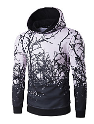 Men's Casual/Daily Active Simple Hoodie 3D Print Micro-elastic Polyester Long Sleeve Fall Winter