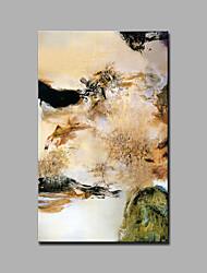 Peint à la main Abstrait / Fantaisie Peintures à l'huile,Style européen / Modern Un Panneau Toile Peinture à l'huile Hang-peint For