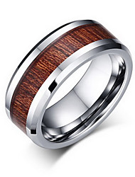 Ring Non Stone Party / Daily / Casual Jewelry Tungsten Steel Men Ring / Band Rings 1pc,7 / 8 / 9 / 10 / 11 / 12 Silver