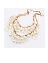 Women's Pearl Strands Pearl Imitation Pearl Alloy Double Pearls Double-layer Jewelry For Wedding Party