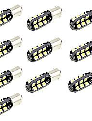 conduit BA9S de lumière de voiture marqueur T4W porte de lecture indicateur de l'ampoule 10 cms 5630 12v dc chaud / blanc (10 pièces)