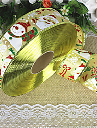 1PC 2 Meters Santa Claus Snowman Christmas Ribbon Christmas Tree Wreath Decorative Christmas Supplies(Style random)