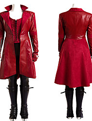 Cosplay Costumes / Women's Scarlet Witch Cosplay Costume Leather Whole Set Halloween