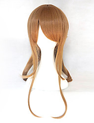 peruca de cabelo sintético anime cosplay peruca cap peruca livre marrom extra longo