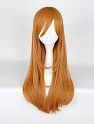 Perruques de Cosplay Aime la vie Cosplay Jaune Long Anime Perruques de Cosplay 75cm CM Fibre résistante à la chaleur Unisexe
