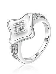 Jewelry Women Sterling Silver Silver Square Ring