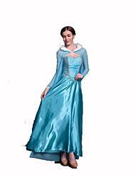 Princesas Cuento de Hadas Festival/Celebración Disfraces de Halloween Azul Encaje Un Color Vestido ChalHalloween Navidad Carnaval Día del