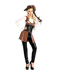 Festival/Holiday Halloween Costumes Brown Solid Top / Pants / Belt / Hats / More Accessories Halloween / Christmas / Carnival Female
