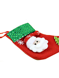 Holiday Jewelry Red Nonwoven Fabric Cosplay Accessories Christmas