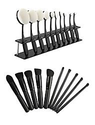 20 ensembles de brosses Poil Synthétique Professionnel / Ecologique / Portable Bois Visage / Œil / Lèvre Autres
