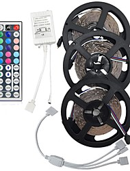 15M(3*5M) 3528 RGB LED Flexible Strip Light No-waterproof DC12V 900LEDs with 44Key Remote Controller Kit