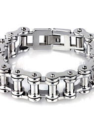 Men's Chain Bracelet Stainless Steel Fashion Sliver Jewelry 1pc