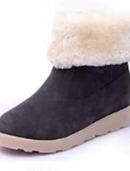 Women's Boots Winter Comfort Suede Casual Low Heel Black Gray Burgundy