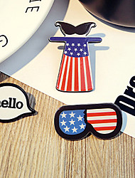 1 Set Cute Hello Pin Brooch Set Fashion Jewelry for Men/Women(Random Style)