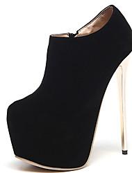 Feminino-Botas-Gladiador Light Up Shoes-Salto Agulha-Preto-Pêlo-Escritório & Trabalho Social Casual Festas & Noite