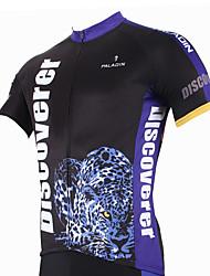 ILPALADINO Maillot de Ciclismo Hombre Manga Corta Bicicleta Camiseta/Maillot Tops Secado rápido Resistente a los UV Transpirable