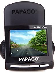 PAPAGO P1W novatek 96650 1080p DVR Car 2.4 Polegadas Tela Aptina0338 traço Cam