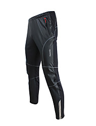 SANTIC® Cycling Pants Men's Breathable / Thermal / Warm / Windproof Bike Bottoms 100% Polyester / Synthetic LeatherRacing / Cycling/Bike