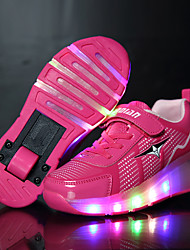 LED Light Up Shoes, Girl's Sneakers Spring / Summer / Fall / Winter Slide / Roller Shoe / Leather  / Athletic / Casual Low Heel / Hook & Loop