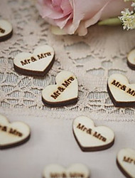 Wooden wedding shooting props Bridal costume jewelry Mr & Mrs Wedding decorative buckle
