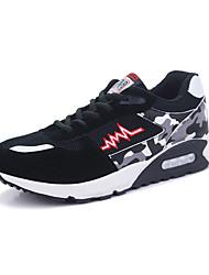 Masculino-Tênis-Conforto-Rasteiro-Azul Vermelho Preto e Vermelho Preto e Branco-Couro Ecológico-Casual