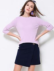 Damen Übergrössen Röcke,A-Linie einfarbigLässig/Alltäglich Einfach Hohe Hüfthöhe Mini Reisverschluss Polyester / Nylon / Wolle Unelastisch