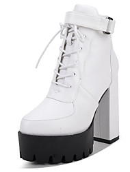 Women's Boots Fall / Winter Platform / Gladiator / Ankle Strap PU Office & Career / Dress / Casual Chunky HeelBuckle / Hook & Loop /