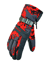 Ski-Handschuhe Vollfinger Damen / Herrn Sporthandschuhe Schneedicht Handschuhe Snowboarding Polyester WinterGrün / Rot / Grau / Schwarz /